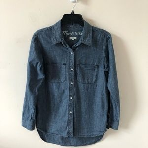 Madewell Perfect Ex-Boyfriend Chambray Top-Size XS